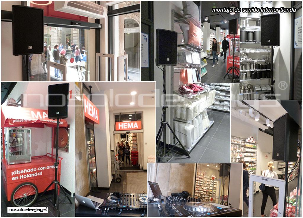 dj inauguracion tienda