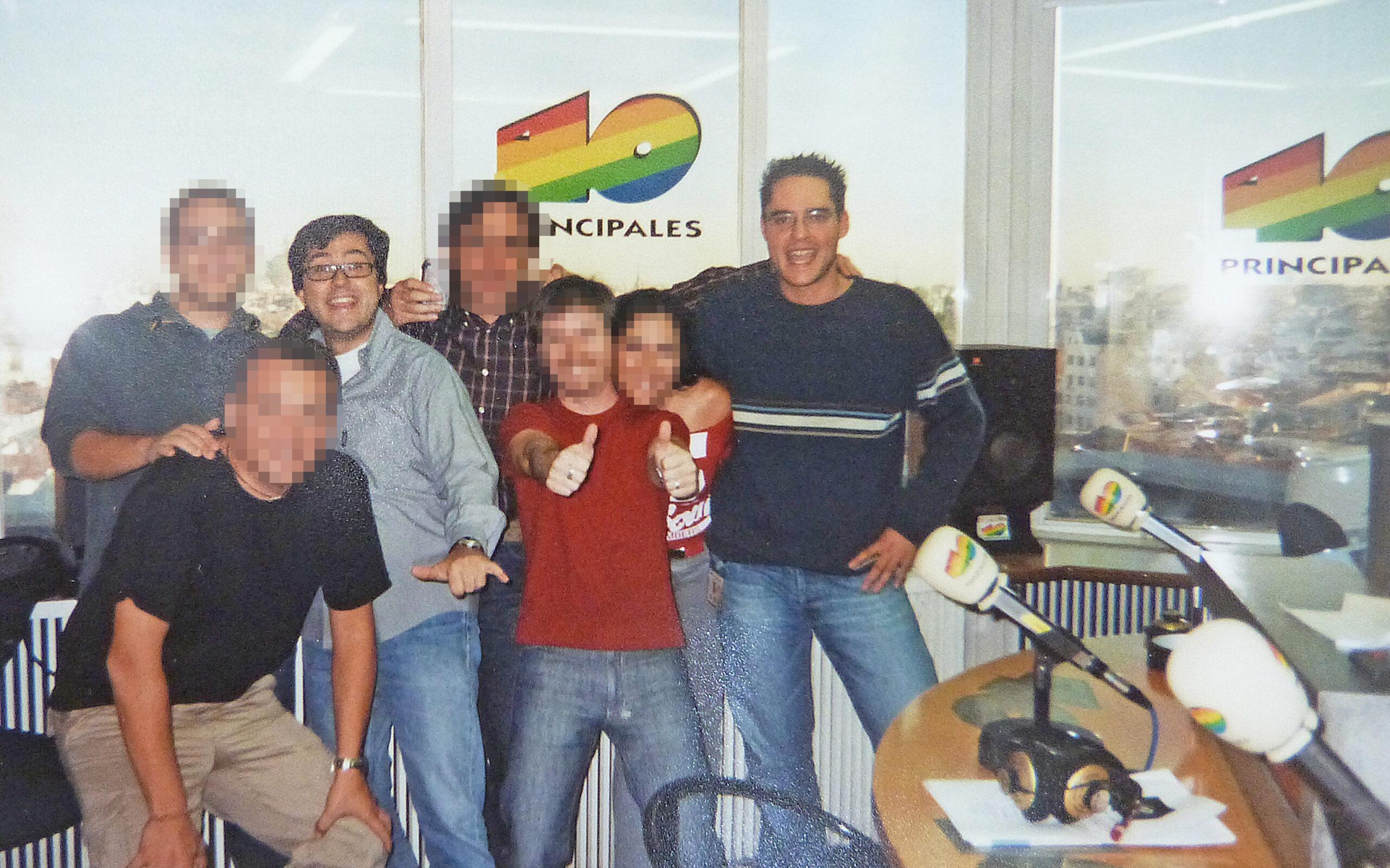 ivan jimenez con compañeros como Juanma Ortega de los 40 Principales